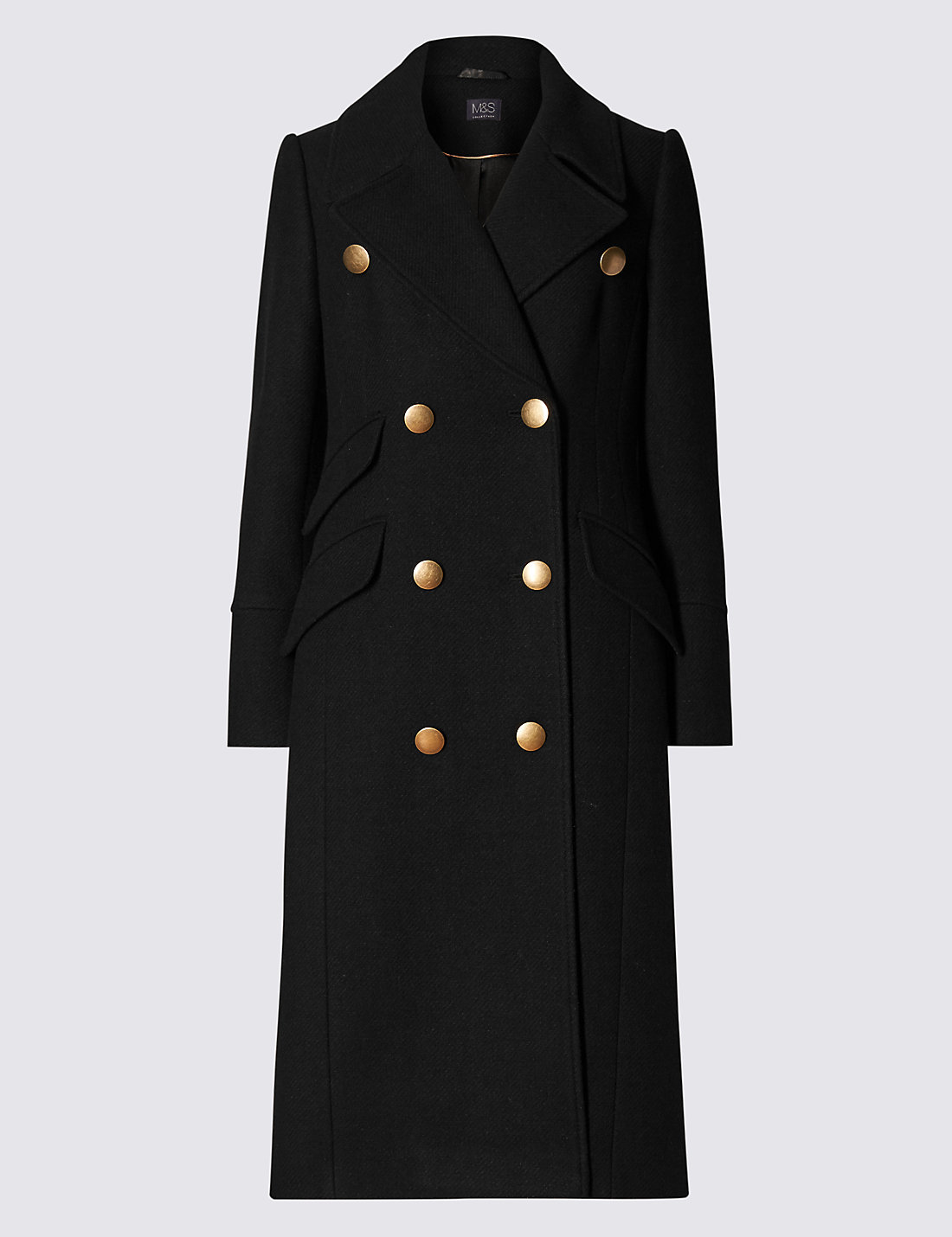 Military Long Coat | M&ampS