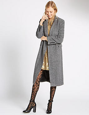 Herringbone Overcoat, GREY MIX, catlanding