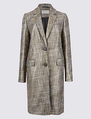 Metallic Coat, GOLD, catlanding