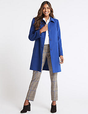 Patch Pocket Coat, BLUE, catlanding