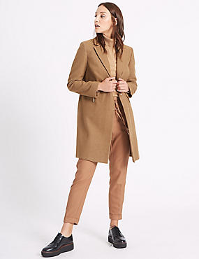 2 Pocket Coat, CAMEL, catlanding