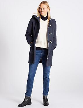 Duffle Coat, NAVY, catlanding