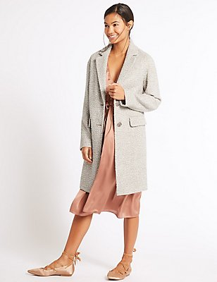 Boucle Textured Coat, SOFT GOLD, catlanding