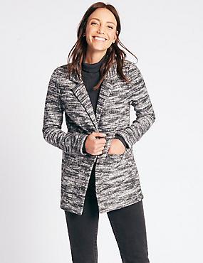 Textured Boucle Coat, GREY MIX, catlanding