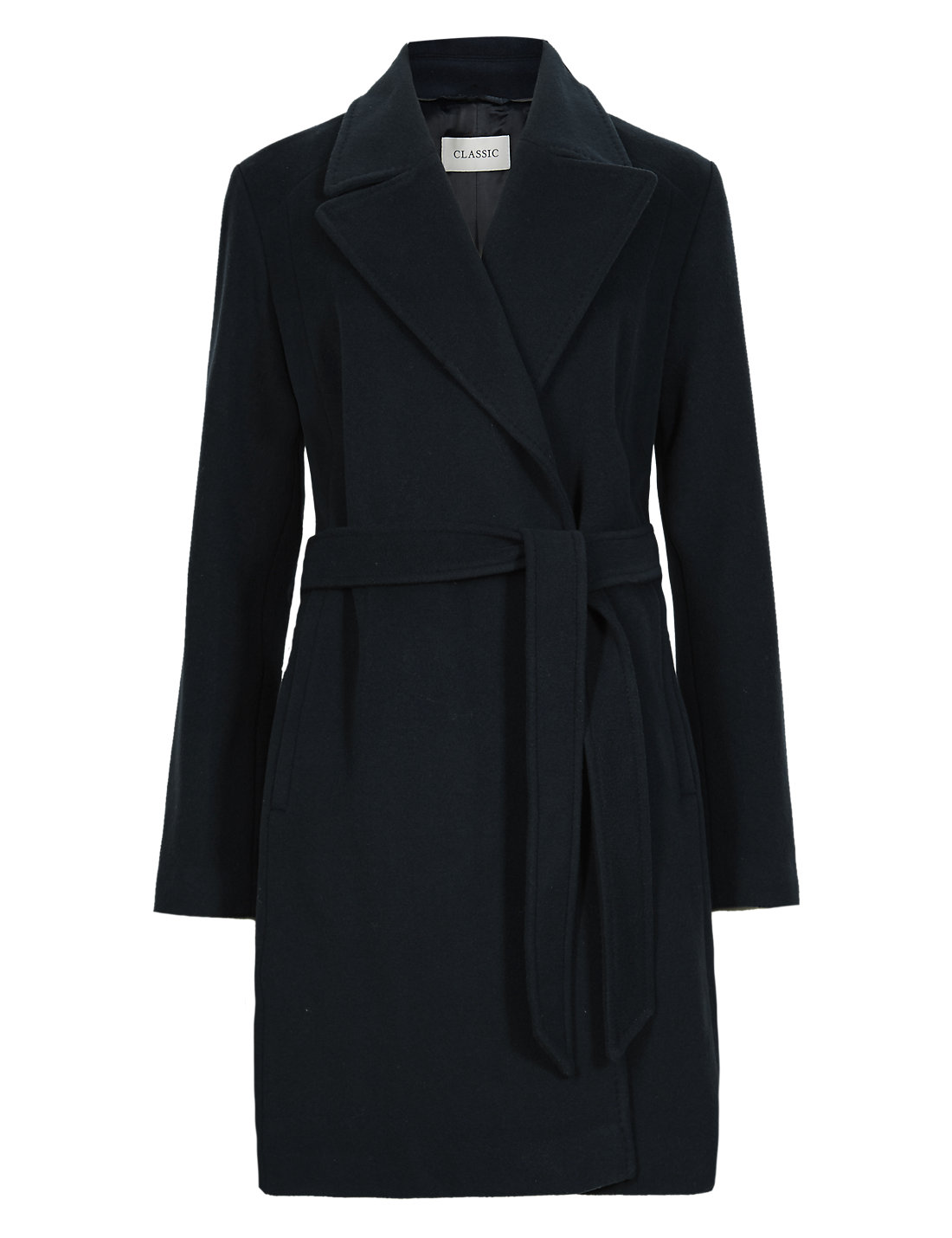Luxurious Wrap Coat with Cashmere | M&S