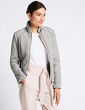 Quilted Jacket with Stormwear™, SILVER GREY, catlanding