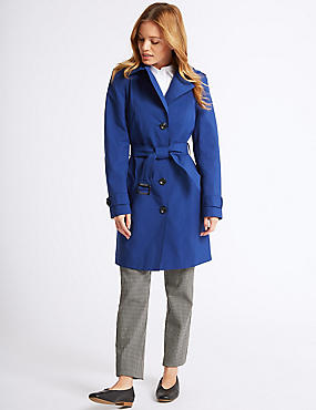 PETITE Trench Coat with Stormwear™, COBALT, catlanding