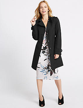 PETITE Trench Coat with Stormwear™, BLACK, catlanding