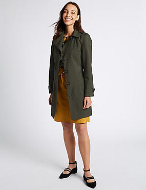 Trench Coat with Stormwear™, FOREST GREEN, catlanding