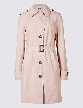 Trench Coat with Stormwear™, PALE PINK, catlanding