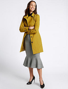 Trench Coat with Stormwear™, DARK GOLD, catlanding