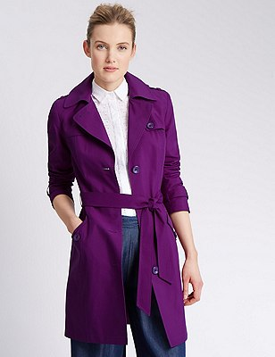 Belted Mac with Stormwear™, PLUM, catlanding