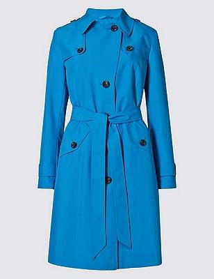 Belted Mac with Stormwear™, MID BLUE, catlanding