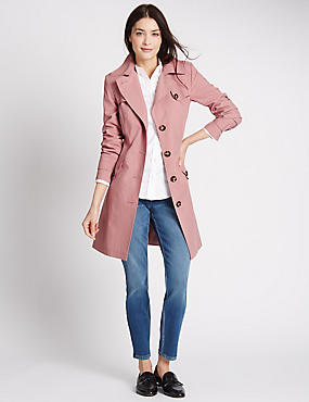Belted Trench with Stormwear™, DUSTY PINK, catlanding
