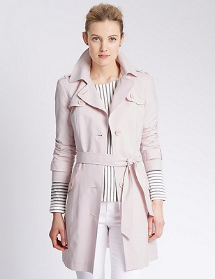 Belted Mac with Stormwear™, PALE PINK, catlanding