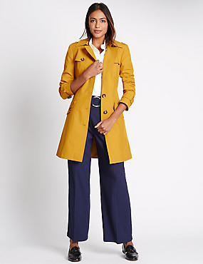 Belted Trench with Stormwear™, OCHRE, catlanding