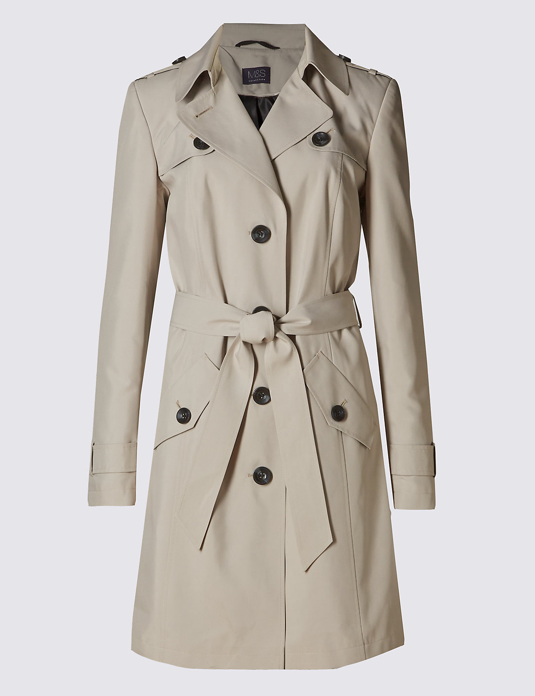 Mens jacket marks and spencer - Belted Trench With Stormwear