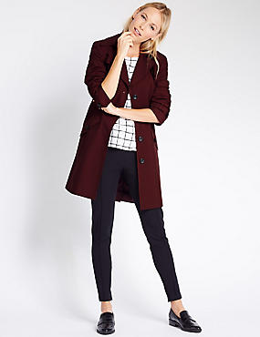 Belted Trench with Stormwear™, DARK AUBERGINE, catlanding