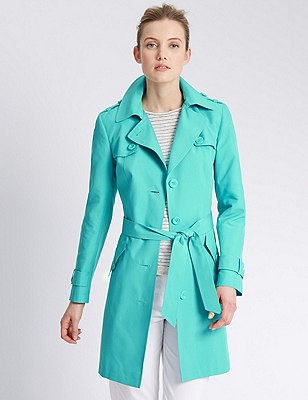 Belted Mac with Stormwear™, BRIGHT JADE, catlanding