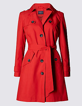 Belted Trench with Stormwear™, POPPY, catlanding