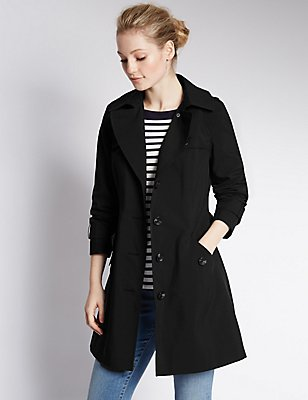 Belted Trench with Stormwear™, BLACK, catlanding