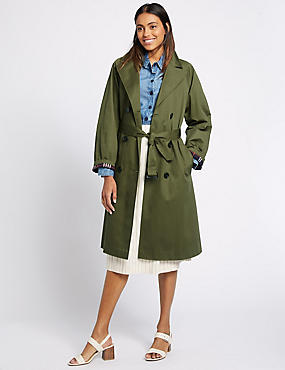 Pure Cotton Trench Coat with Stormwear™, KHAKI, catlanding