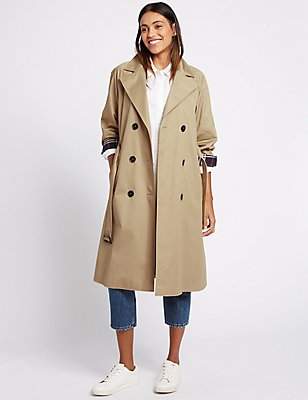 Pure Cotton Trench Coat with Stormwear™, SANDSTONE, catlanding