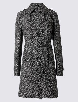 Слекга приталенный принтованный макинтош с технологией Stormwear™ M&S Collection T493374