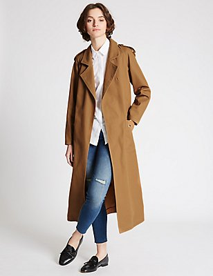 Pure Cotton Trench with Stormwear™, CINNAMON, catlanding