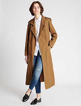 Pure Cotton Trench Coat with Stormwear™, CINNAMON, catlanding