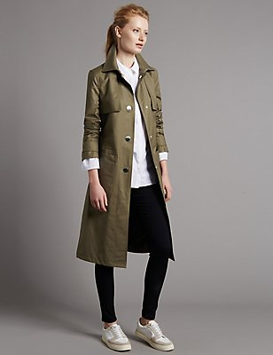 Belted Trench Coat with Stormwear™, KHAKI, catlanding