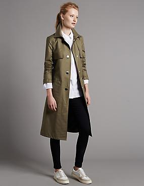 Trenchcoat mit Gürtel und Stormwear™, KHAKI, catlanding