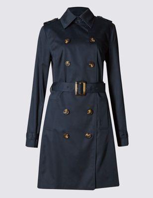 Тренч из чистого хлопка с технологией Stormwear™ M&S Collection T493414