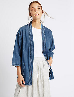 Denim Judo Jacket with Belt, DENIM, catlanding