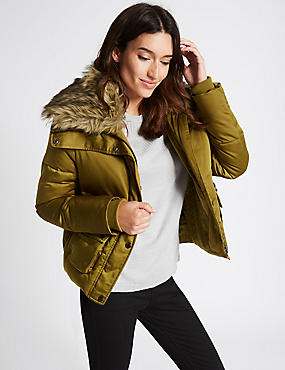 Padded & Quilted Jacket with Stormwear™, CHARTREUSE, catlanding