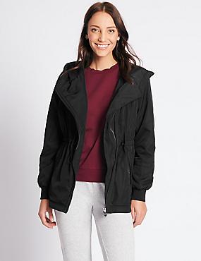 Asymmetric Jacket with Stormwear™, BLACK, catlanding