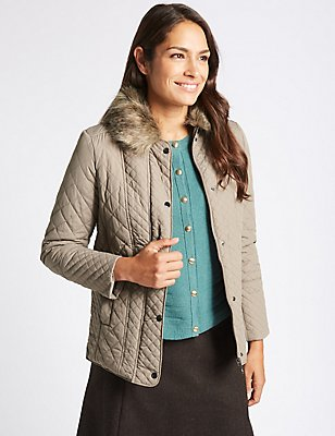 Padded & Quilted Jacket with Stormwear™, MINK, catlanding