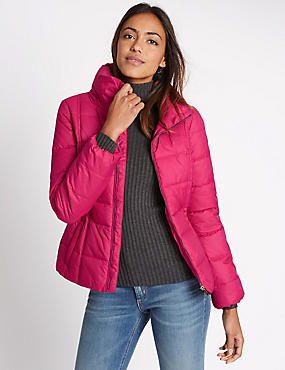 Padded & Quilted Coat with Stormwear™, PINK, catlanding