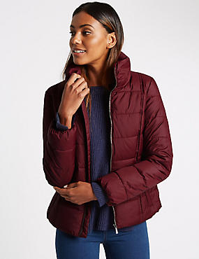 Padded & Quilted Coat with Stormwear™, DARK CLARET, catlanding