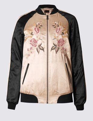 Куртка-бомбер с цветочной вышивкой Per Una T493568