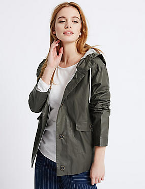 PETITE Pure Cotton Parka Jacket, CHOCOLATE, catlanding
