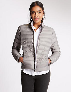 Down & Feather Jacket with Stormwear™, SILVER GREY, catlanding
