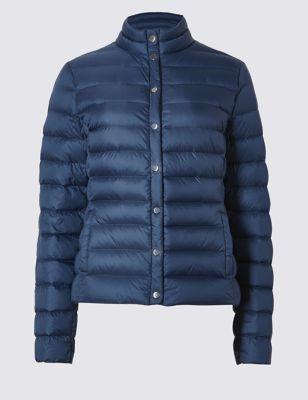 Утеплённая стёганая куртка Stormwear™ с воротником стоечкой M&S Collection T493573