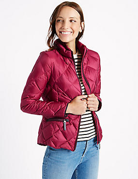 Down & Feather Jacket with Stormwear™, RASPBERRY, catlanding