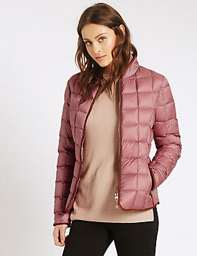 Down & Feather Jacket with Stormwear™, DUSTED PINK, catlanding