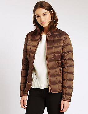 Down & Feather Jacket with Stormwear™, BRONZE, catlanding