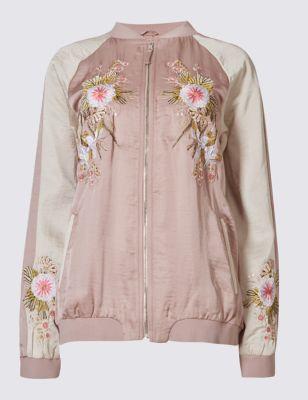 Куртка бомбер с цветочными мотивами Per Una T493577U