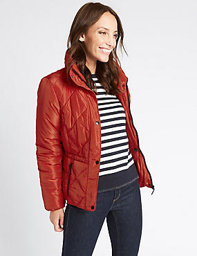 Padded Jacket with Stormwear™, LACQUER RED, catlanding