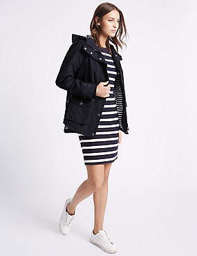 Anorak Coat with Stormwear™, NAVY, catlanding