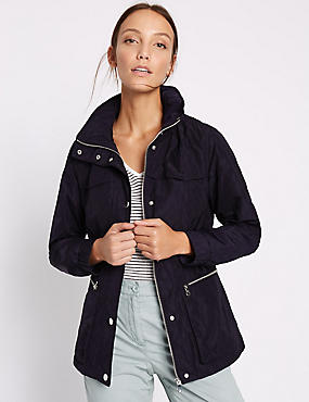 Anorak Jacket with Stormwear™, NAVY, catlanding